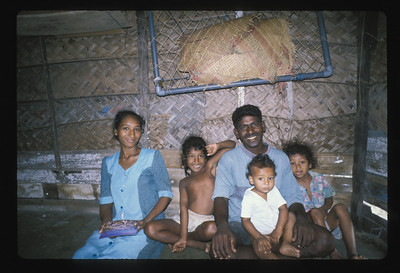 Sheldon and his family, Negombo beach, Sri Lanka.