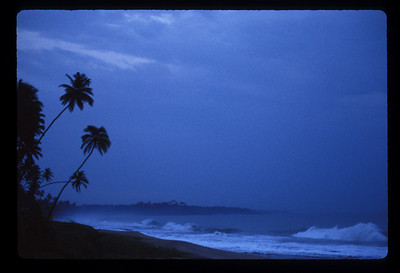 Storm on the beach at Hambantota, Sri Lanka.