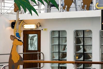 Christmas aboard the Royal Mail Ship St. Helena, South Atlantic Ocean.