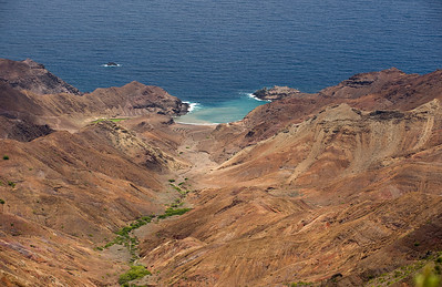 View to Sandy Bay, St. Helena island, South Atlantic Ocean.
