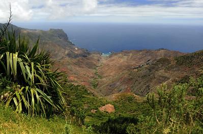 View to Sandy Bay, St. Helena Island.