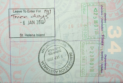 Three day pass to St. Helena Island, South Atlantic Ocean.