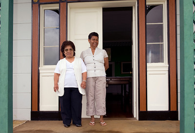 Tour guides at Longwood House, Napoleon's last residence, St. Helena Island.