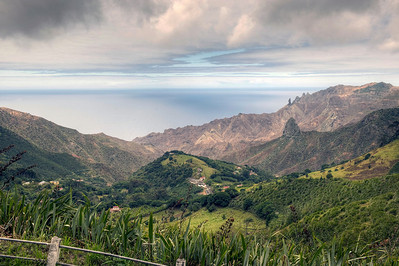 Landscape, St. Helena island, South Atlantic Ocean.