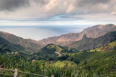 Landscape, St. Helena island, South Atlantic Ocean.