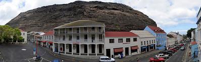 Stitch of main street, Jamestown, St. Helena Island.