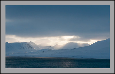 The view from Barenstburg, Svalbard.