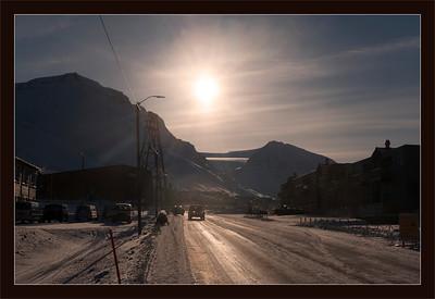 Glacier above Longyearbyen, Svalbard, Norway