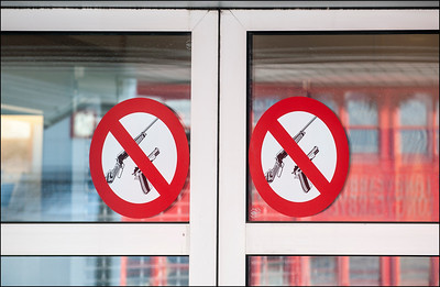 Sign at Store Entrance, Svalbard, Norway