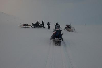 Heading back from Barentsburg, Svalbard, Norway.