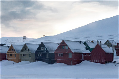 Houses in Longyearbyen, Svalbard, Norway