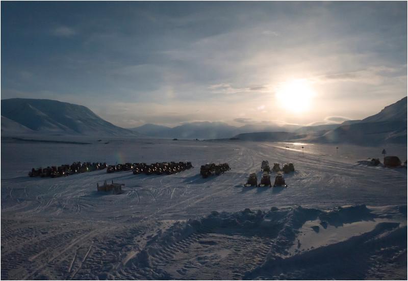 Snowmobiles, Longyearbyen, Svalbard, Norway