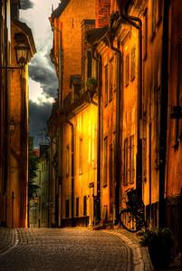 HDR image of Gamlastan, Stockholm, Sweden.