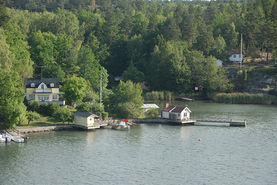 Rural southern shoreline, Sweden.
