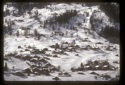 Valley near Grindelwald, Switzerland after snowfall.