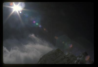 Mountain peak, Swiss Alps.