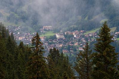 The Alpine village of Lauterbrunnen, Switzerland.
