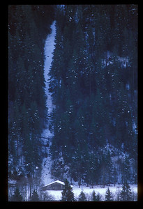 Snowfall at Grindelwald, Switzerland.