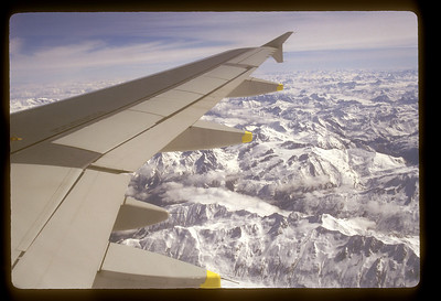 Swiss Alps from above.