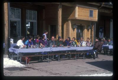 Ski party at Kleine Scheidegg, Switzerland.