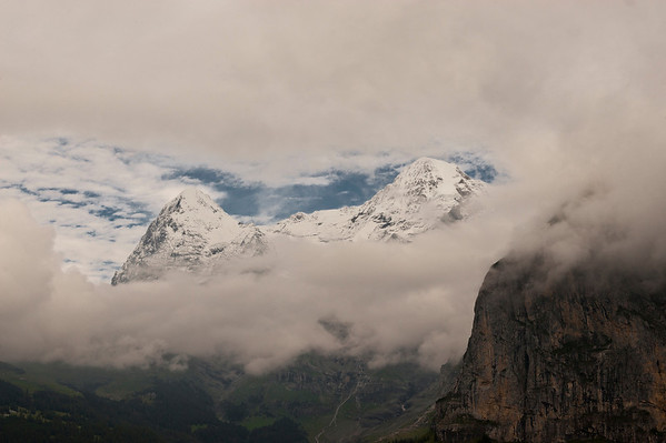 Gap in the clouds. Mürren, Switzerland.