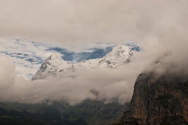 Gap in the clouds. Mürren, Switzerland.