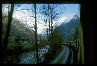 Train near Interlaken, Switzerland.