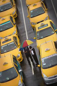 Taxi stop in Hsinchu, Taiwan