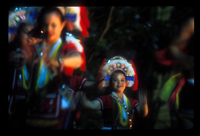 Dancers in aboriginal ceremony, Hua-lien, Taiwan.