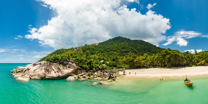 Than Sadet beach at Koh Phangan, Thailand.