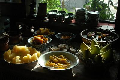 Restaurant buffet, Bangkok, Thailand.