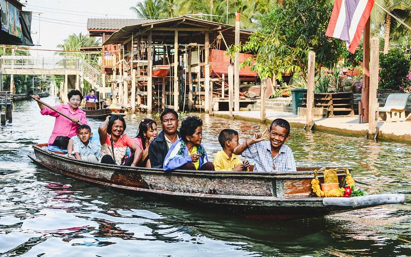 Family Boat Trip at Floating Markets of Damnoen Saduak