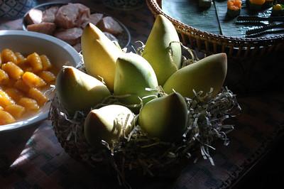 Fruit at restaurant buffet, Bangkok, Thailand.