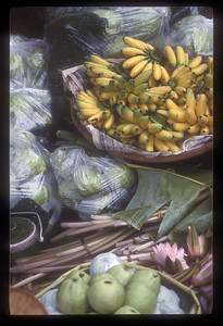 Produce for sale at floating market, Thailand.