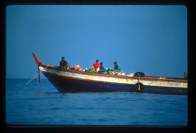 Traders' boat, Andaman Sea, Thailand.
