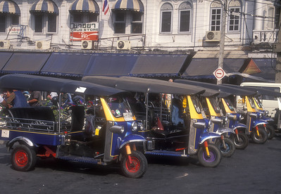 Tuk tuks - Thai taxis.