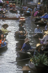 Floating market, Thailand.