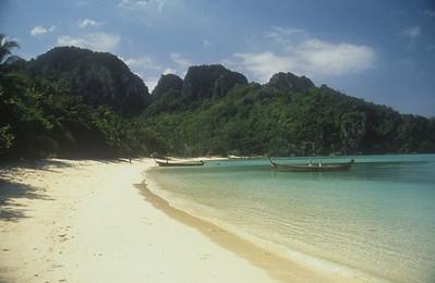 Small bay on Koh Phi Phi, or Pee Pee Island, Thailand.