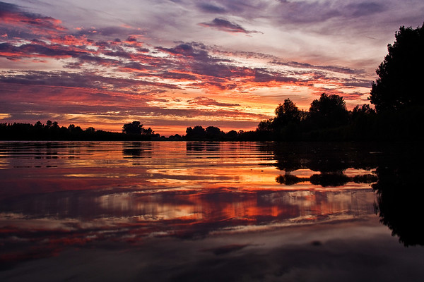 The Netherlands - Sunset at the Linge