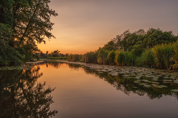 The Netherlands - Sunset at the Linge at Acquoy