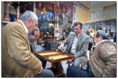 Backgammon, Kadaköy, Istanbul, Turkey - HDR.