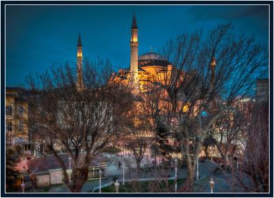 The Haggia Sophia, Sultanahmet, Istanbul, Turkey at twilight - HDR.