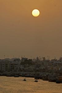 Sunset, Dubai, United Arab Emirates.