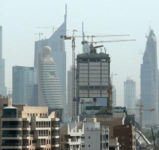 Construction on the Dubai, United Arab Emirates, skyline.