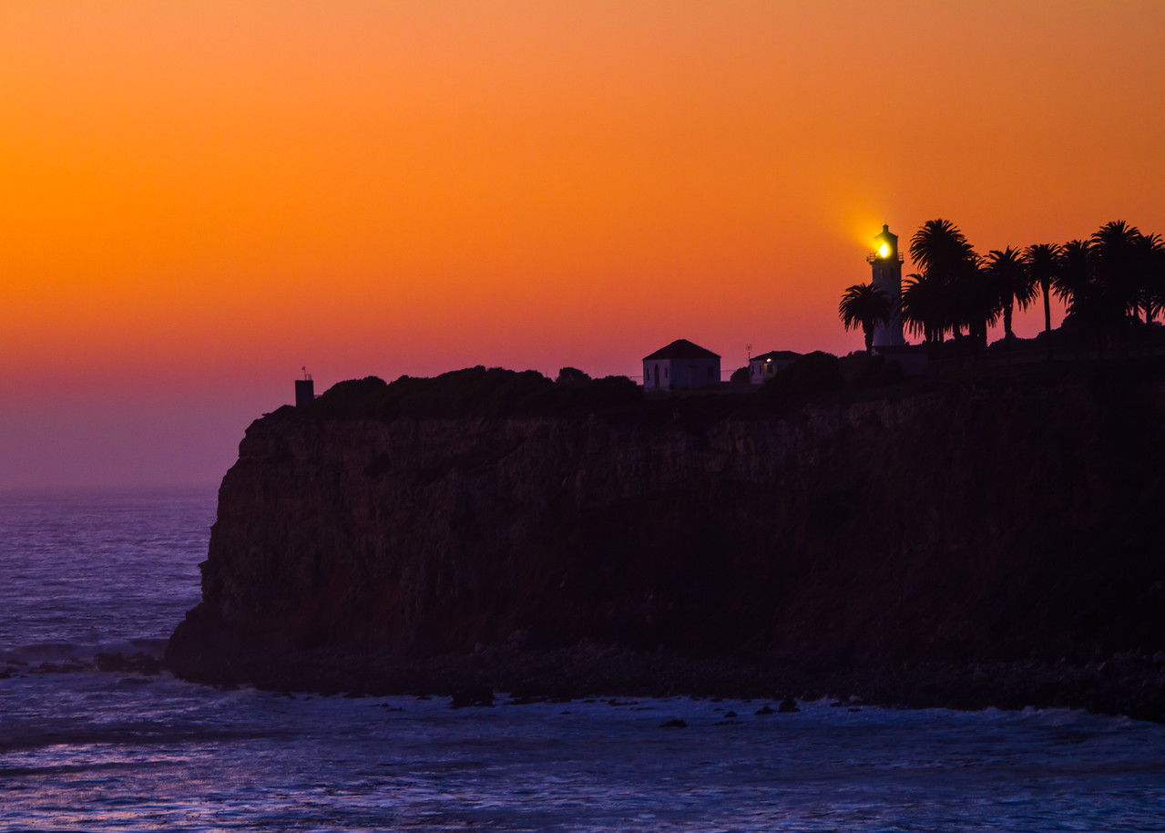 Point Vicente Lighthouse At Sunset