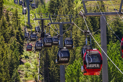 Elevated view of cable car - USA - Colorado