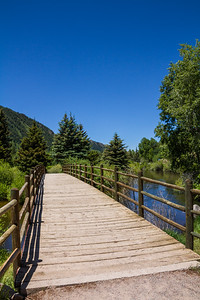 View of wooden bridge - USA - Colorado