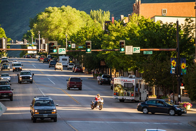 View of traffic in city - USA - Colorado