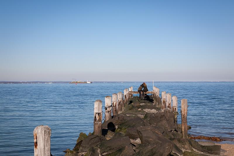 Lovers on Pier