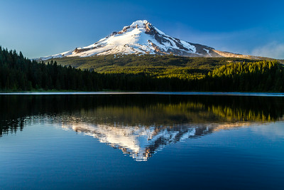 Mount Hood Reflected In Trillium Lake, Clackamas County, Oregon, USA, North America